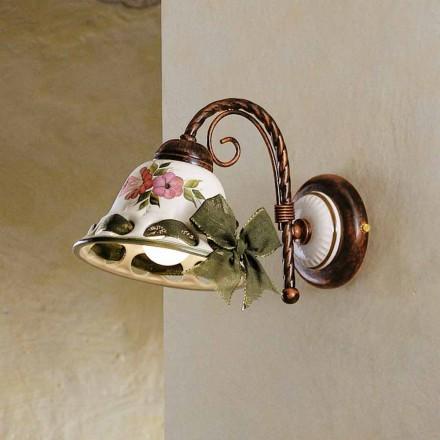 Sconce mur qeramike e bërë nga Napoli qeramike nga Ferroluce