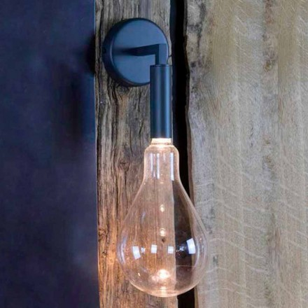 Llambë muri në natyrë në hekur dhe alumin me LED përfshirë prodhuar në Itali - Luccico