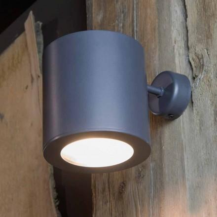 Llambë muri në natyrë në hekur dhe alumin me LED të përfshira prodhuar në Itali - Rango