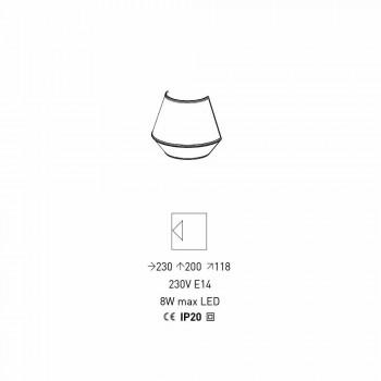 Applique Dizajni në Pambuk Blu me Detaje Kuq e Bardhë Prodhuar në Itali - Sojë