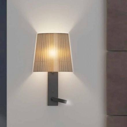 Dizajni llambë muri me strukturë në metal të zi dhe organza prodhuar në Itali - Boom