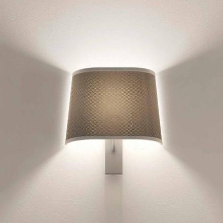 Dizajni Llambë Muri në Argjend Metal ose Fund të Bardhë Prodhuar në Itali - Kërce