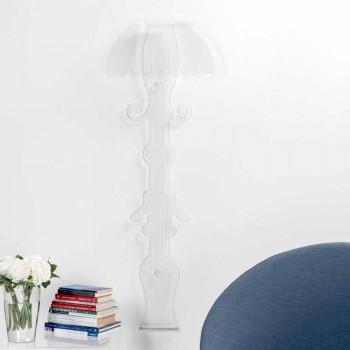 Dizajn Sconce në plexiglass transparente të prodhuar në Itali, Scilla