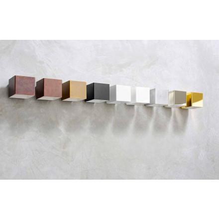 Llambë LED mur në bronz dhe suva të bërë në Itali - Cubetto Aldo Bernardi