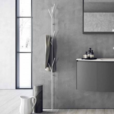 Rafte dyshemeje me dizajn modern në të bardhë ose metal të kromuar - Kottac