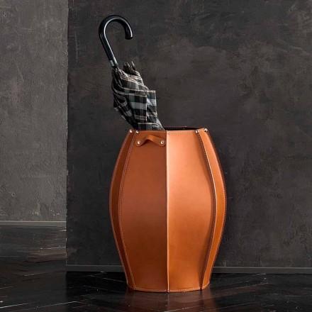 Ombrellë Audrey qëndrim me dizajn modern në lëkurë, bërë në Itali