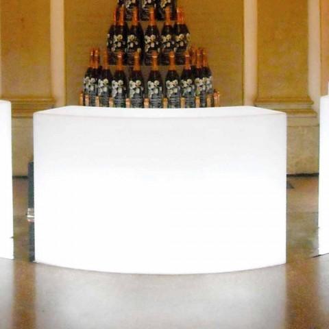 Banak modular i shiritave të ndritshëm të kopshtit Slide Snack Bar, prodhuar në Itali