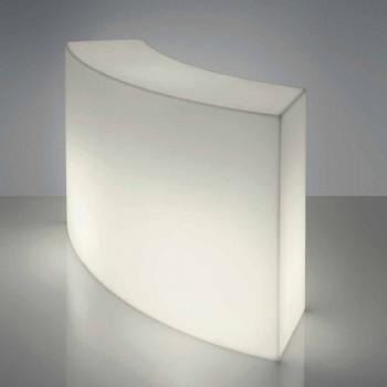Counter bar modular Slide Snack Shirit i bardhë i ndritshëm i prodhuar në Itali