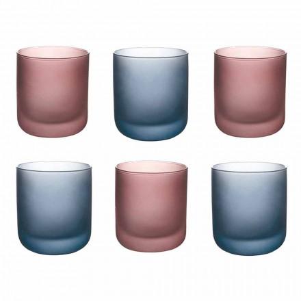 Gota me ujë me ngjyra në xham të ngrirë me efekt akulli, 12 copë - Norvegio