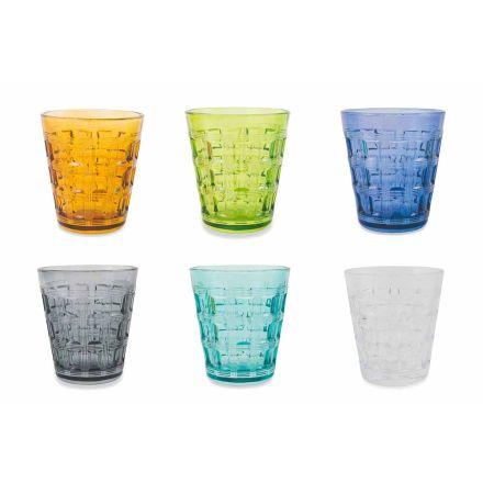 12 gota me ujë me ngjyra të shërbimit me ngjyra - gërshetim