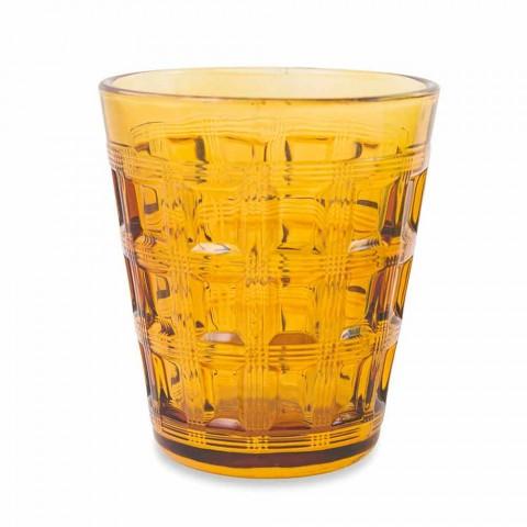 6 gota me ujë me ngjyra të shërbimit me ngjyra - gërshetim