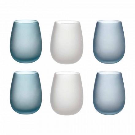 Syzet e ujit në qelq me ngjyra të ngrira Shërbimi i plotë 12 copë - vjeshtë