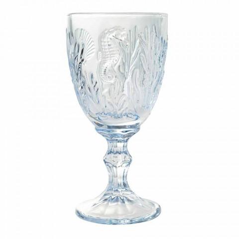 Gota Verë ose Dekor Detare me Xham me Ngjyrë Uji 12 Copë - Mazara