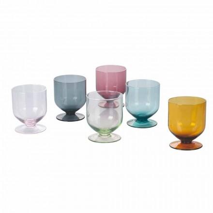 Gota me ngjyra në xham të dizajnit origjinal, shërbim 12 copë - qëlloj