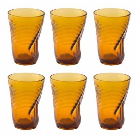 Syzet me koktej xhami me ngjyrë 12 copë dizajn të thërrmuar - Sarabi