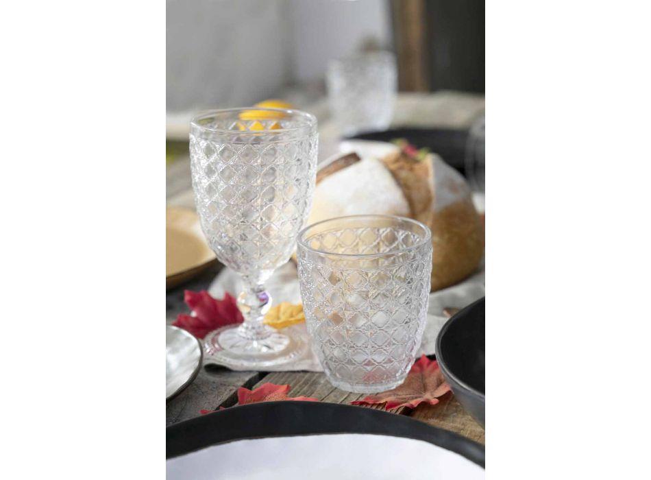 Shërbimi i gotave 12 copë në gotë transparente për ujë - optike