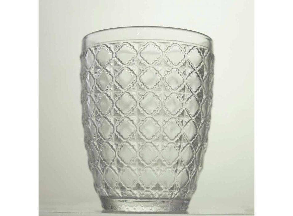 6 copa që shërbejnë gota në gotë transparente për ujë - optike