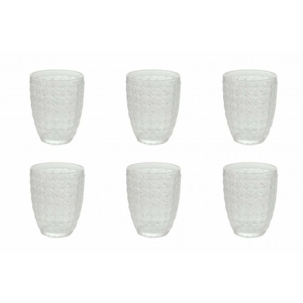 12 copa që shërbejnë gota në gotë transparente për ujë - optike