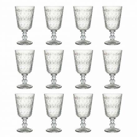Gota vere në gotë transparente të zbukuruar 12 gota dizajni - marokobike