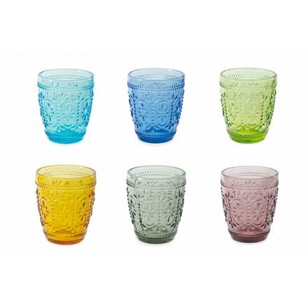 Syze për ujëra të dekoruar dhe me ngjyra 6 copa - Pastel-Palazzo