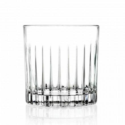 Dy gota të ulëta me modë të vjetër gota të ulëta 12 copë luksoze - Senzatempo