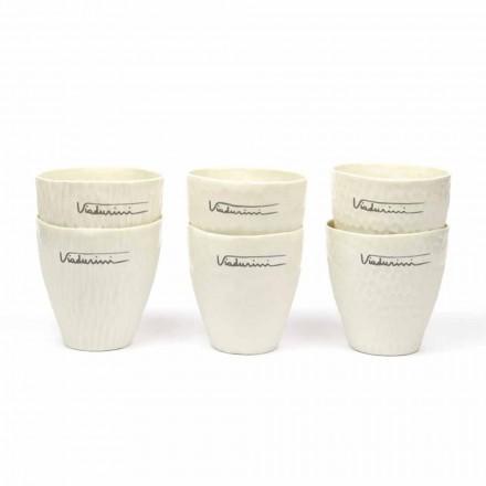 Dizajn luksoz Syzet e Porcelanit të Bardhë 6 Copë Unike - Arcireale
