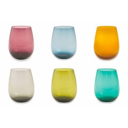 Tumblers qelqi me ngjyra për shërbimin modern të ujit prej 6 copash - Aperi