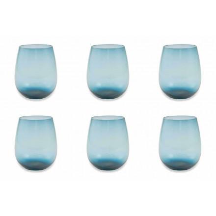Shërbimi i gotave moderne dhe me ngjyra të xhamave me ujë prej 6 copash - Aperi