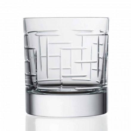 Syzet Uiski Uji të Dyfishtë Crystal Scotch Moda e Vjetër 12 Copë - Aritmi