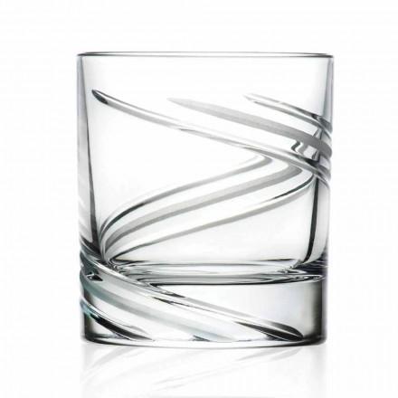 Syzet me gumëzhitje të ulët në eko kristal të zbukuruar me dorë, 12 copë - ciklon