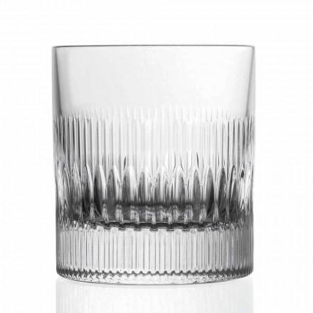 Uiski kristal dhe gota uji 12 copë dekor në stilin e cilësisë së mirë - i prekshëm