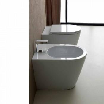 Bidet qeramik 57x37cm dizajn modern Sun, i bërë në Itali