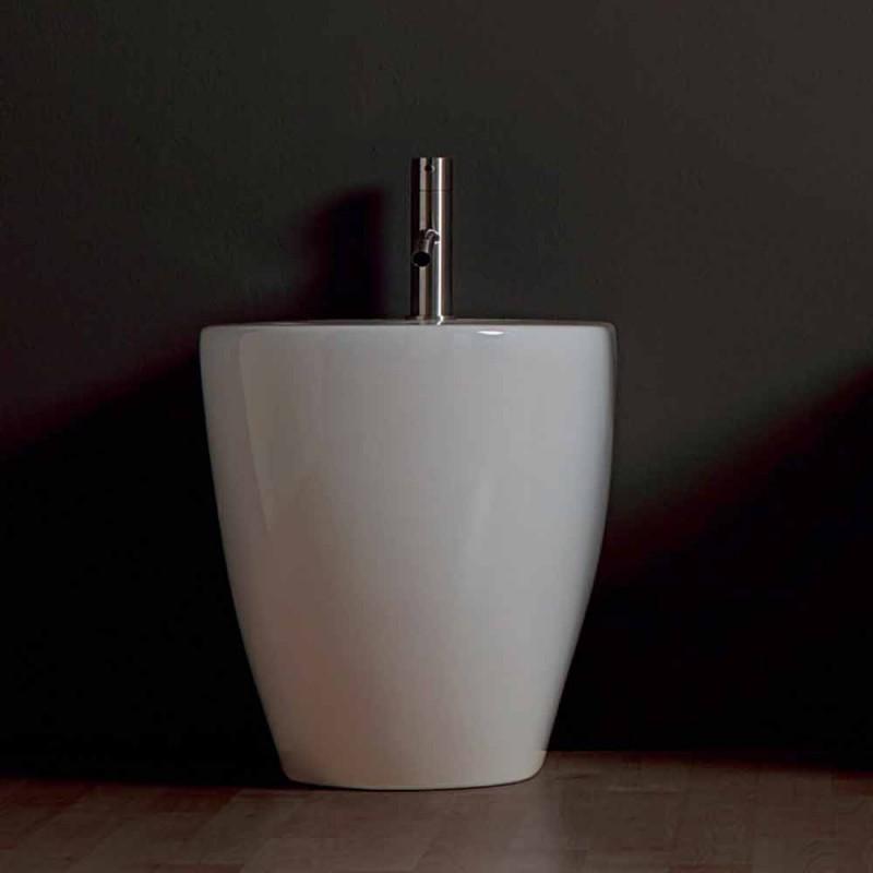 Bidetja qeramike moderne Shine Square Rimless 54x35cm e bërë në Itali