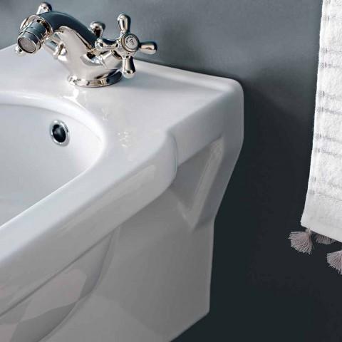 Bidet klasik me një vrimë në qeramikë të bardhë të bërë në Itali - Marwa