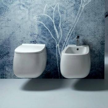 Gaiola mur i bardhë qeramik i varur bidet, i bërë në Itali