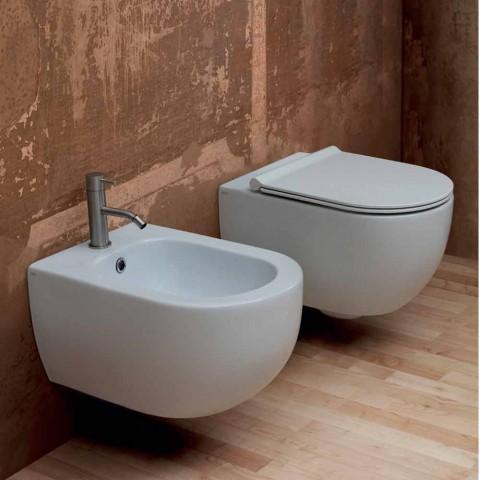 Muri i varur me bidet qeramik dizajni modern Star 55x35cm i bërë në Itali
