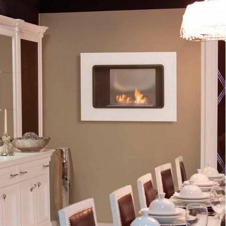 Zjarrit me mur Bioethanol me një dizajn modern, Ngjyra e Bardhë - Erica