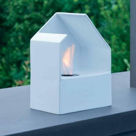 Zjarrit modern bioethanol tabletop i bërë nga çeliku dhe qeramika Curtis