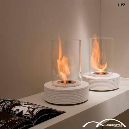 Tabelë fireplace bioethanol bërë nga mermeri Gordon, dizajn modern