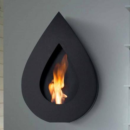 Dizajni modern i montuar në mur me oxhak bio etanol Joseph, i bërë në Itali
