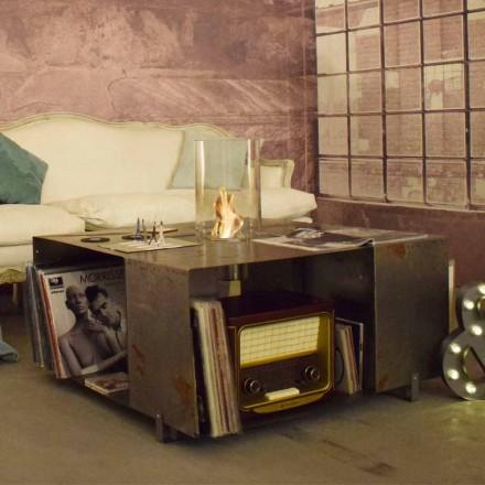 Kati Bio-fireplace dhe Tavolinë kafeje me Dizajn Modern në Çelik - Christopher