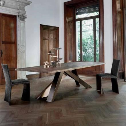 Tabela druri e ngurtë Bonaldo Big Table me skaj të gjallë, e bërë në Itali