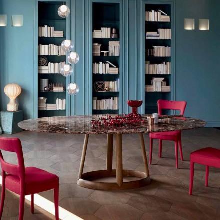 Tavolinë e rrumbullakët Bonaldo Greeny me majë mermeri Emperador, e bërë në Itali