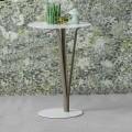 Bonaldo Kadou pikturoi tryezën anësore të çelikut 39 cm, e bërë në Itali