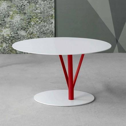 Bonaldo Kadou pikturoi tryezën anësore të çelikut Ø 70 cm, të bërë në Itali