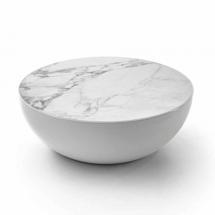 Tavolinë kafeje Bonaldo Planet e bërë nga qeramika Calacatta, dizajn modern