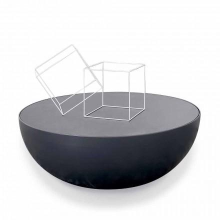 Tavolinë kafeje kristal e vizatuar Bonaldo Planet, dizajn modern i bërë në Itali