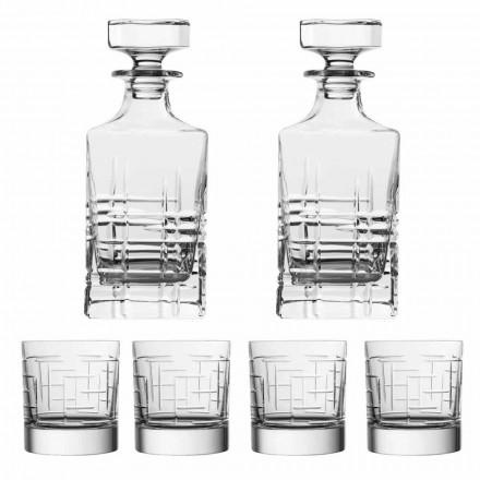 Shishe dhe gota uiski kristal luksoz ekologjik 6-copësh - Aritmi