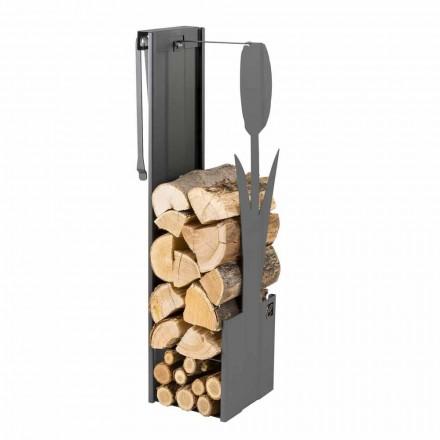 Mbajtës i brendshëm i drurit të zi me dizajn modern dhe mjete - Maestrale3