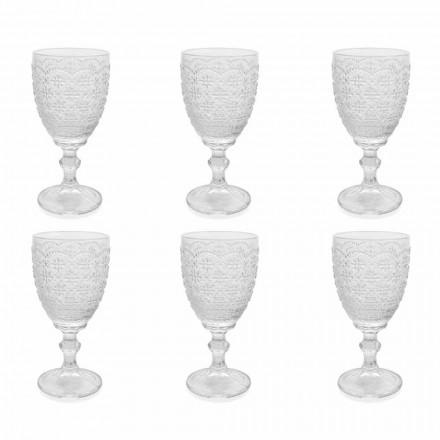 Gotë me gota në xham transparente me zbukurime të ndihmës, 12 copë - Trapani